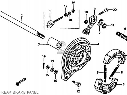 Honda Xl185s 1982 (c) Usa parts list partsmanual partsfiche