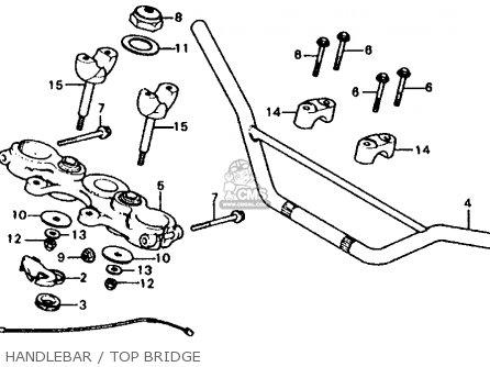 Honda Xl185s 1982 Usa parts list partsmanual partsfiche