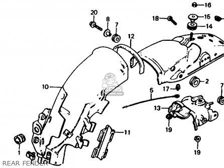 Honda Xl185s 1983 (d) Usa parts list partsmanual partsfiche
