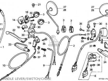 Honda Xl185s 1986 (g) Canada parts list partsmanual partsfiche