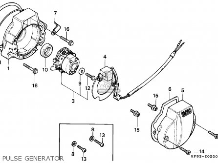 Honda Xl185s 1986 (g) Canada parts list partsmanual partsfiche