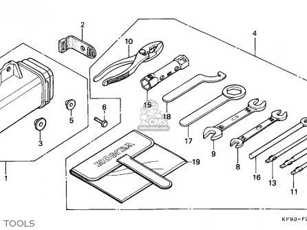 Honda Xl185s 1987 (h) Canada parts list partsmanual partsfiche
