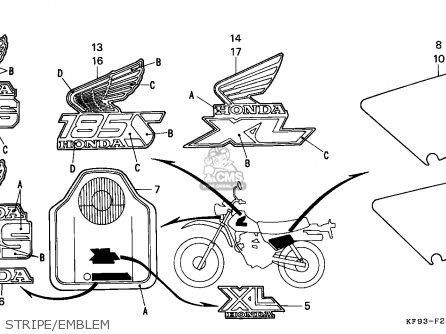 Honda XL185S 1989 (K) AUSTRALIA parts lists and schematics
