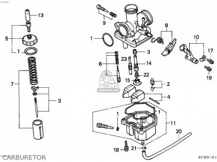 Honda Xl185s 1990 Australia parts list partsmanual partsfiche