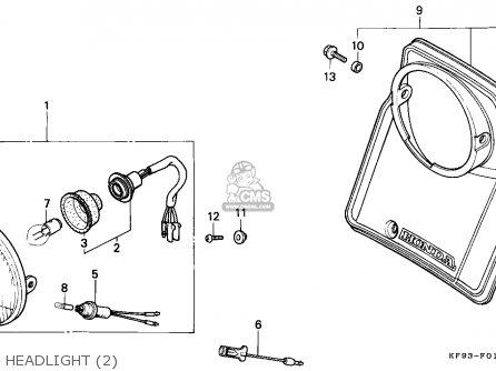 Honda XL185S 1990 (L) AUSTRALIA parts lists and schematics