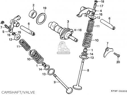 Honda Xl185s 1993 (p) Singapore parts list partsmanual