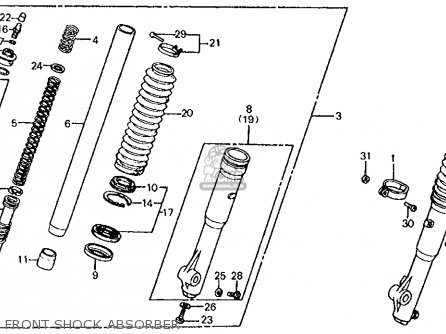 Honda XL200R 1983 (D) USA parts lists and schematics