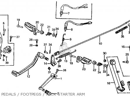 Honda Xl200r 1984 (e) Usa parts list partsmanual partsfiche