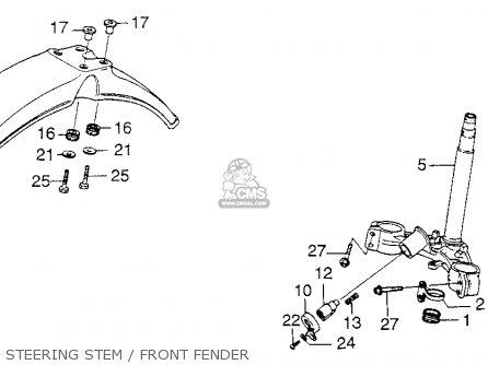 Honda Xl250 Motosport 1976 Usa parts list partsmanual