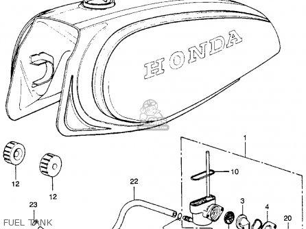 Honda Xl250 Motosport 250 K0 Usa parts list partsmanual