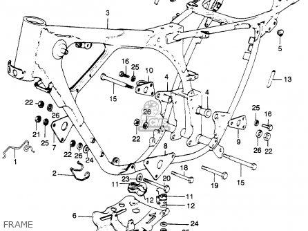Honda Xl250 Motosport 250 K1 Usa parts list partsmanual