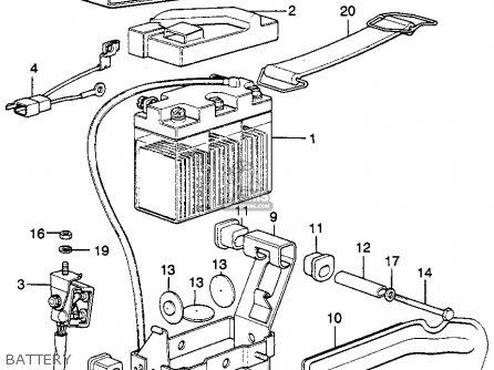 Honda XL250 MOTOSPORT K0 1975 USA parts lists and schematics