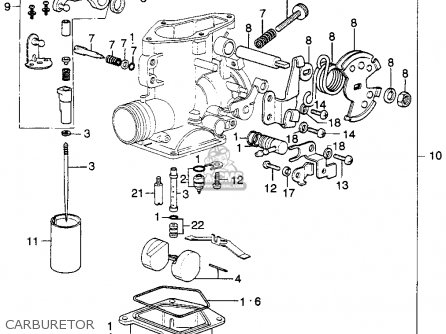 Honda Xl250 Motosport K0 1975 Usa parts list partsmanual