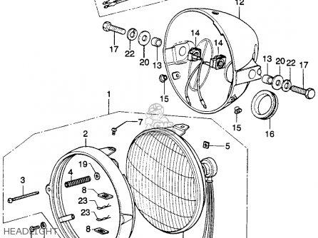 Honda Xl250 Motosport K0 1975 Usa parts list partsmanual