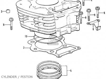 Honda Xl250 Motosport K1 1974 Usa parts list partsmanual