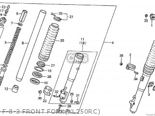 Honda Xl250r 1982 (c) Belgium parts list partsmanual