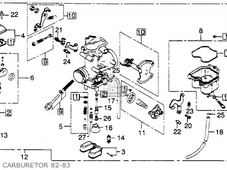 Honda XL250R 1982 (C) USA parts lists and schematics