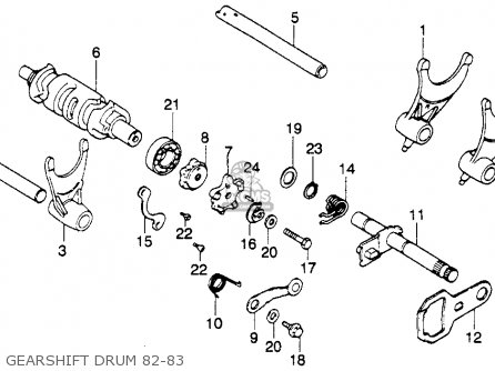 Honda Xl250r 1982 (c) Usa parts list partsmanual partsfiche