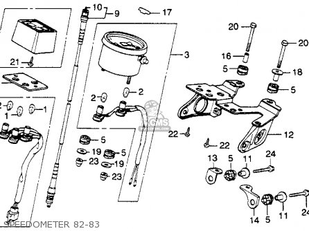 Honda XL250R 1982 (C) USA parts lists and schematics