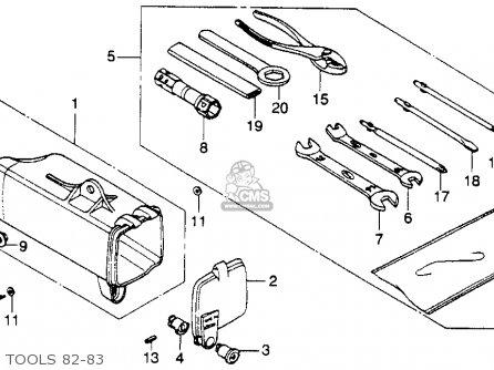 Honda Xl250r 1982 (c) Usa parts list partsmanual partsfiche
