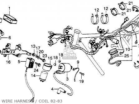 Honda Xl250r 1982 Usa parts list partsmanual partsfiche