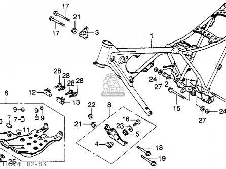 Honda Xl250r 1983 (d) Usa parts list partsmanual partsfiche
