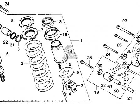 Honda Xl250r 1983 (d) Usa parts list partsmanual partsfiche
