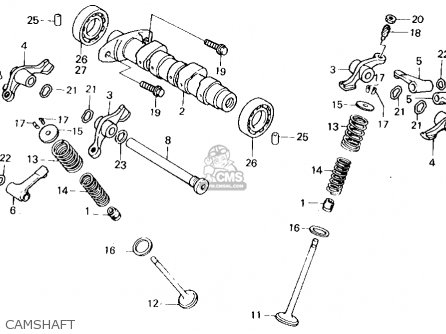 Honda Xl250r 1984 (e) Usa parts list partsmanual partsfiche