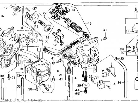 Honda XL250R 1984 (E) USA parts lists and schematics