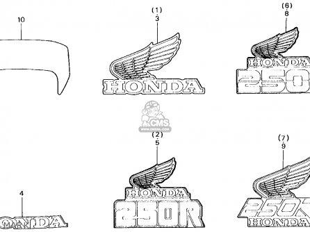 Honda XL250R 1984 (E) USA parts lists and schematics