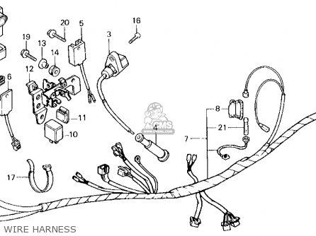 Honda Xl250r 1984 (e) Usa parts list partsmanual partsfiche