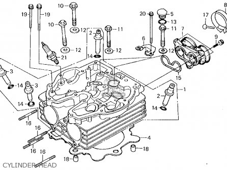 Honda XL250R 1985 (F) USA parts lists and schematics