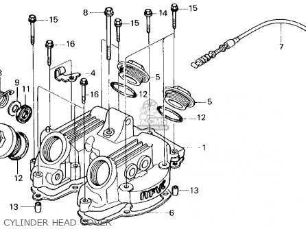 Honda Xl250r 1986 (g) Usa parts list partsmanual partsfiche
