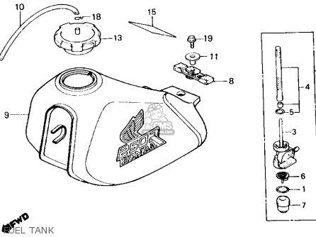 Honda Xl250r 1986 (g) Usa parts list partsmanual partsfiche