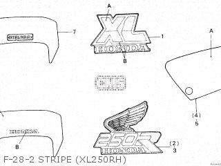 Honda XL250R 1987 (H) parts lists and schematics