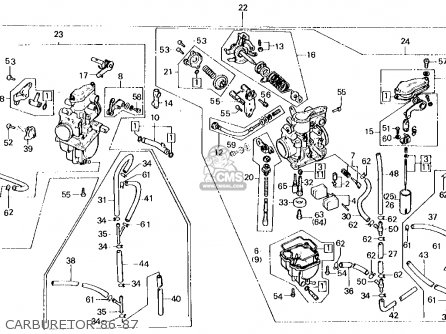 Honda XL250R 1987 (H) USA parts lists and schematics