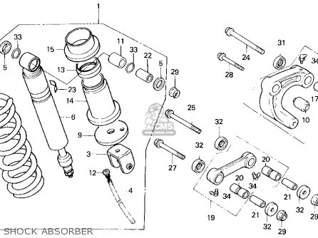 Honda Xl250r 1987 (h) Usa parts list partsmanual partsfiche