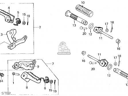 Honda Xl250r 1987 Usa parts list partsmanual partsfiche