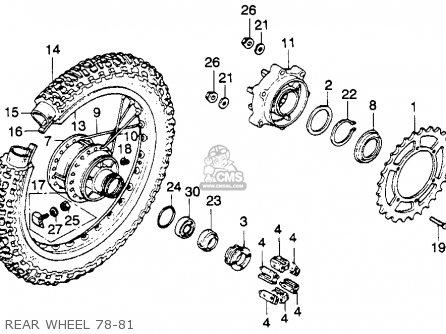 Honda XL250S 1978 USA parts lists and schematics