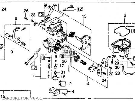 Honda Xl250s 1979 Usa parts list partsmanual partsfiche