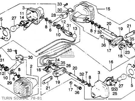 Honda Xl250s 1979 (z) Usa parts list partsmanual partsfiche