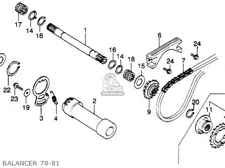 Honda Xl250s 1980 (a) Usa parts list partsmanual partsfiche