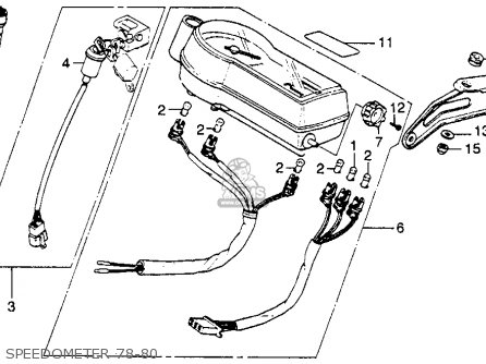 Honda Xl250s 1980 (a) Usa parts list partsmanual partsfiche