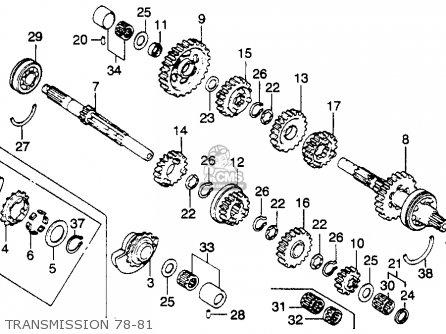 Honda Xl250s 1980 Usa parts list partsmanual partsfiche