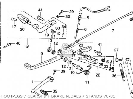 Honda Xl250s 1981 (b) Usa parts list partsmanual partsfiche