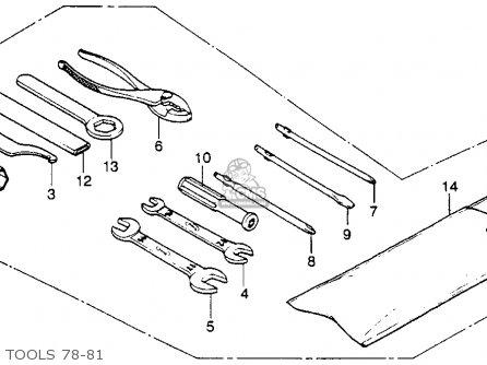 Honda Xl250s 1981 (b) Usa parts list partsmanual partsfiche