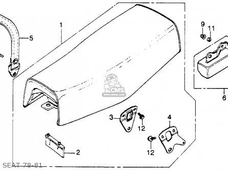 Honda Xl250s 1981 Usa parts list partsmanual partsfiche