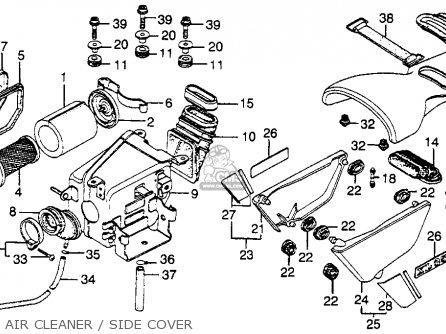 Honda XL350 1976 USA parts lists and schematics