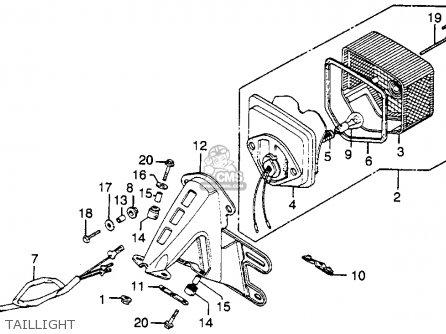Honda Xl350 1976 Usa parts list partsmanual partsfiche