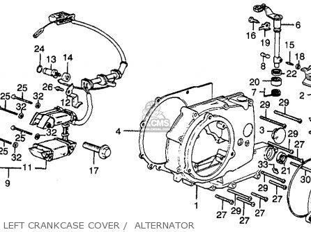 Honda XL350 1977 USA parts lists and schematics